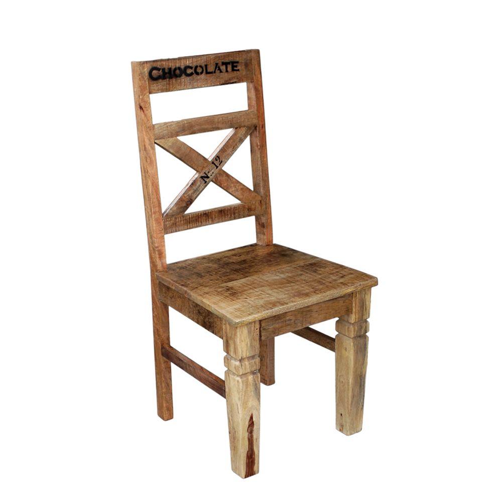Esstischstuhl aus Mangobaum Massivholz Loft Design (2er Set) Jetzt ...