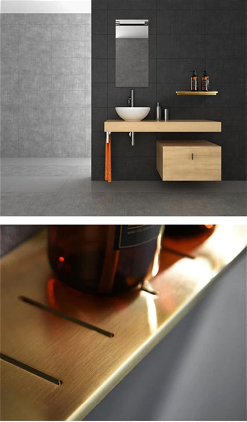 Photo of Shiny Brass Badezimmerregal Duschregal zum Halten von Handtüchern und Zubehör Badarmaturen aus poliertem Messing