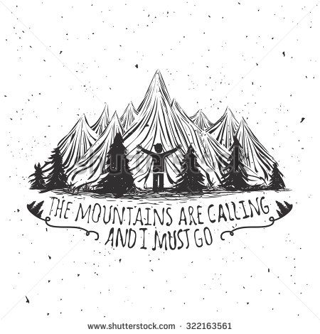 The mountains are calling and i must go tattoo