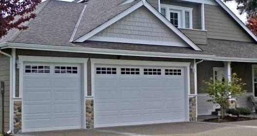 Image Result For Single Garage Ranch Style Door With Translucent Highlight Garage Door Trim Garage Door Design Garage Door Styles