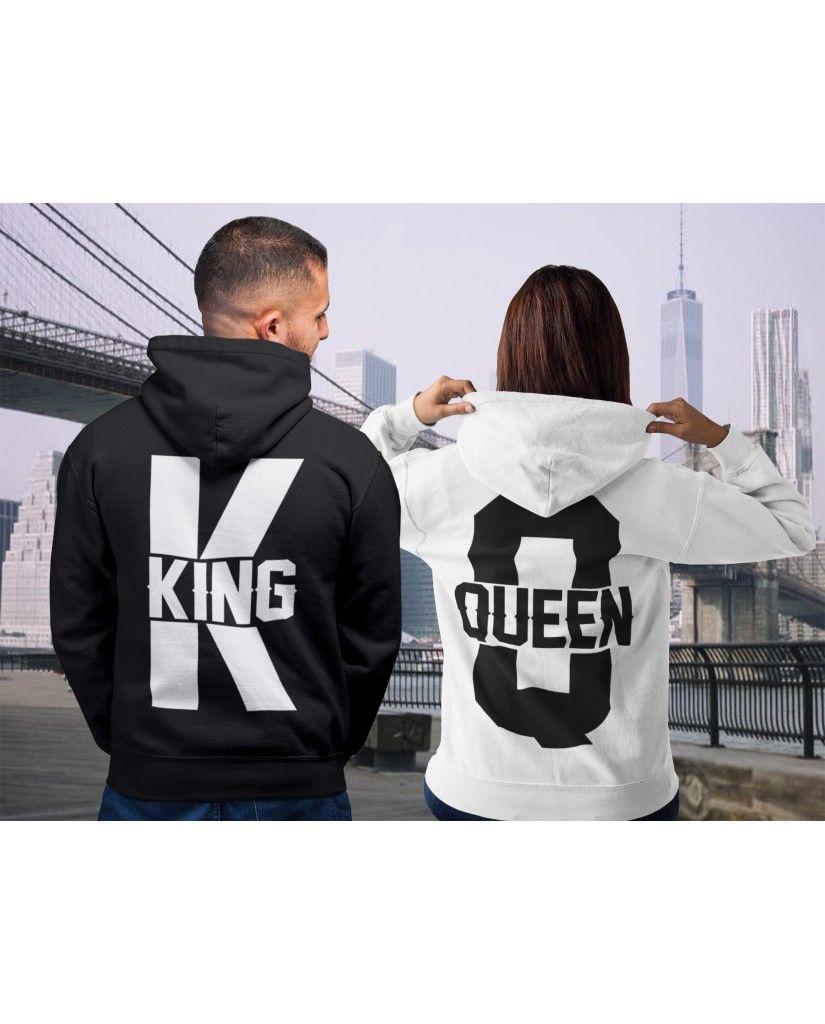 68eb48c6 KING QUEEN HOODIES, COUPLES HOODIE, MATCHING HOODIES, COUPLES HOODIES, KING  AND QUEEN