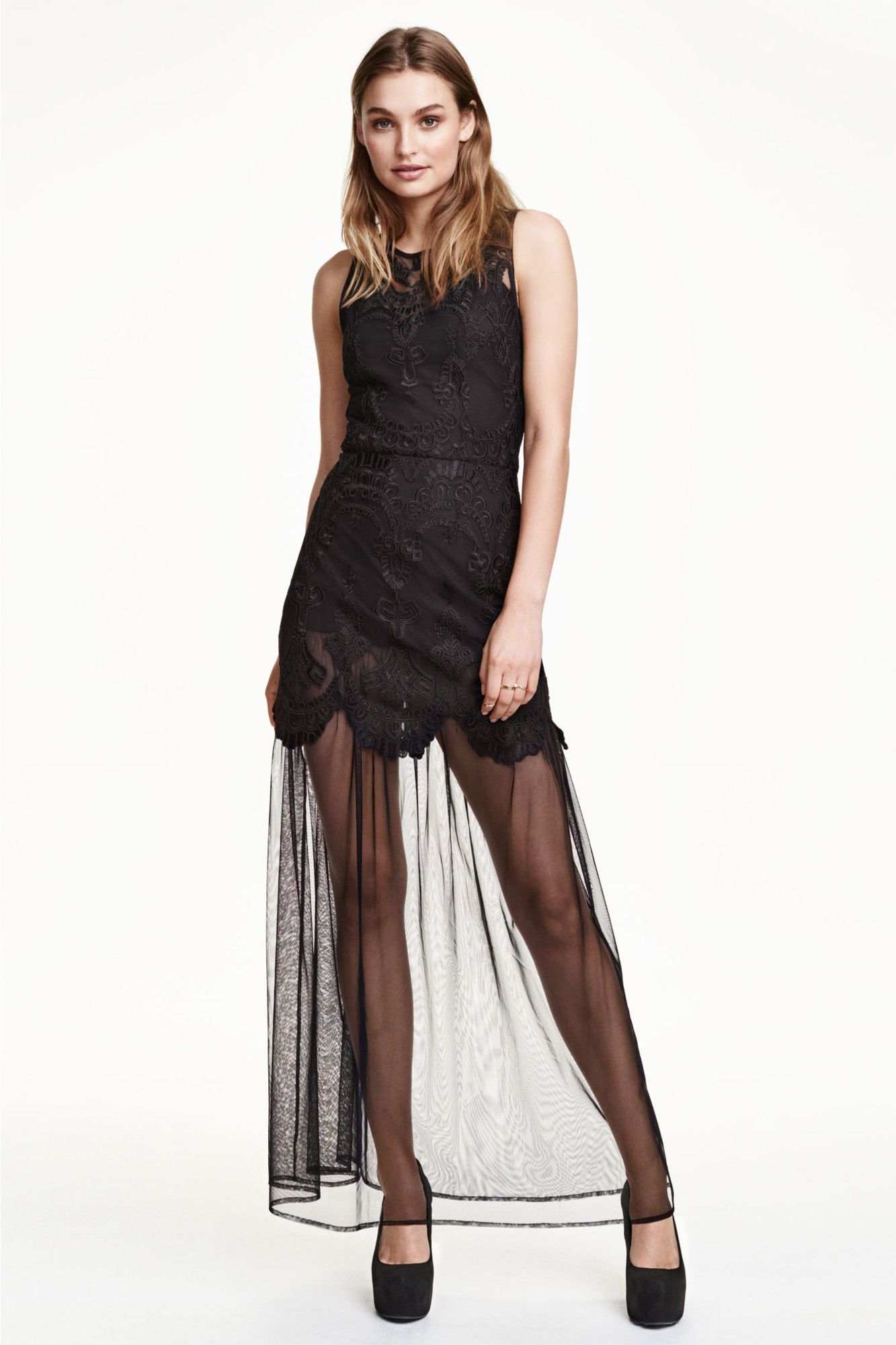 de7ee486c 8 vestidos de tul para sentirte una princesa (moderna). Vestido Tul Bordado  Hym