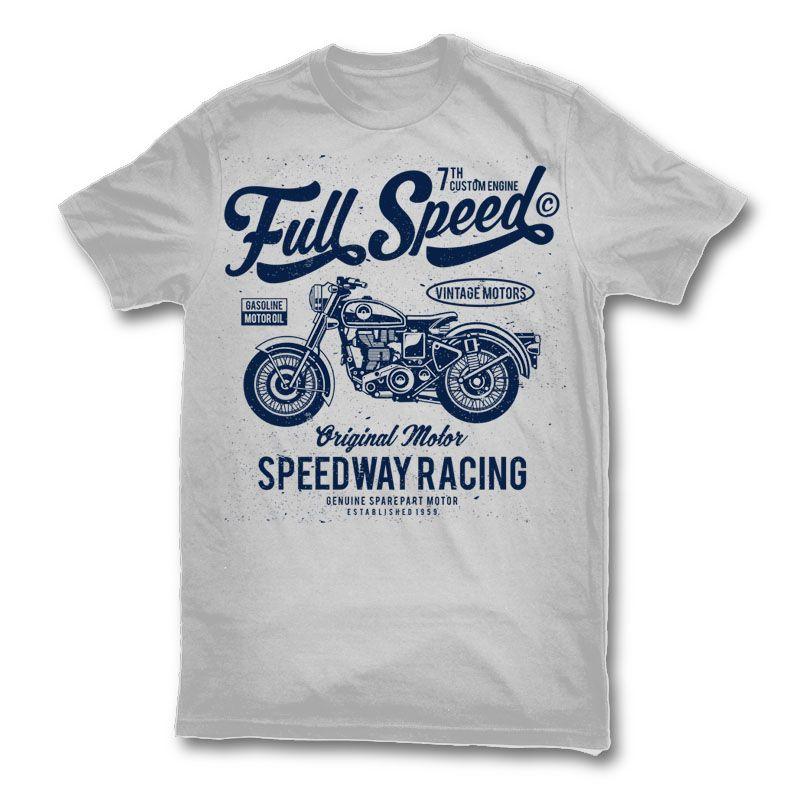 T-shirt /à manches longues Cafe Racer Vintage Motorcycle Motocross Motor Racer Bike Moto