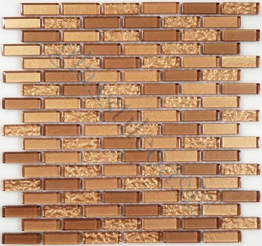 Euro Glass  Crystile Blends, Uniform Brick, Copper, Glossy, Bronze/Copper, Glass