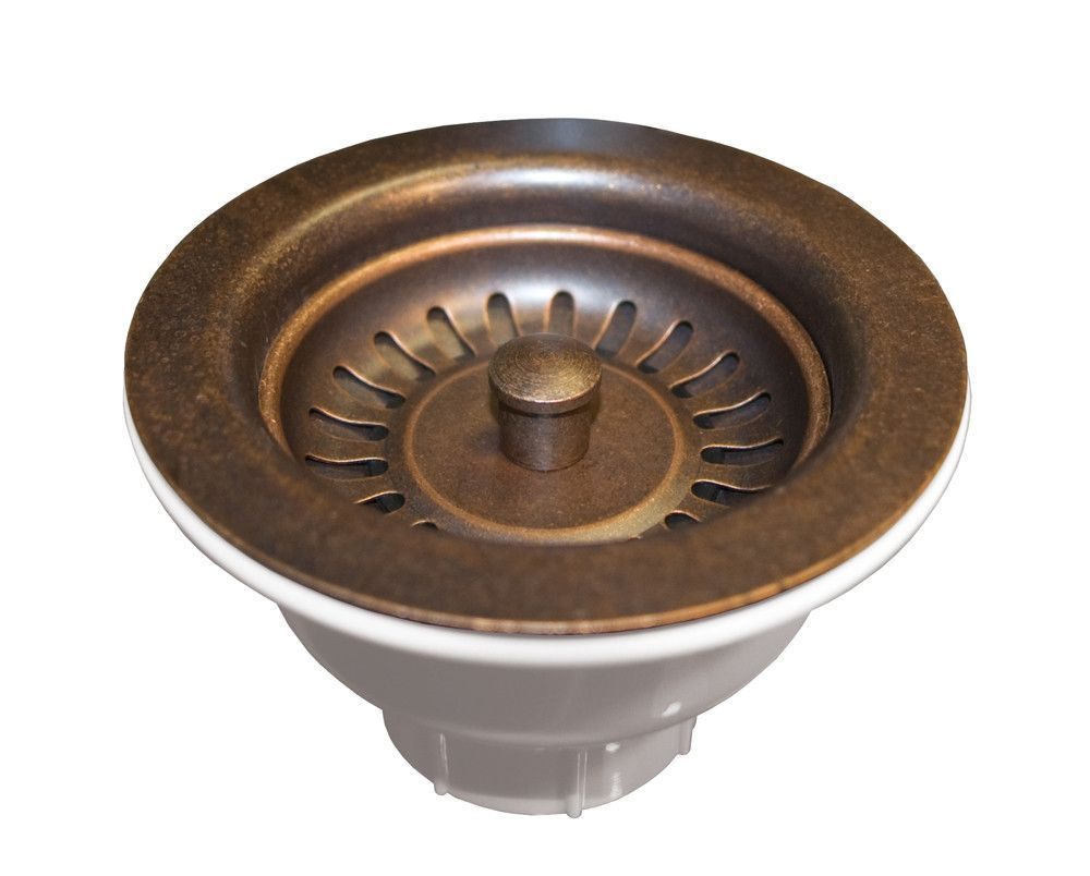 """Mobile Home Chrome Kitchen Drain With Strainer Fits 3.5/"""" to 4/"""" Sinks"""