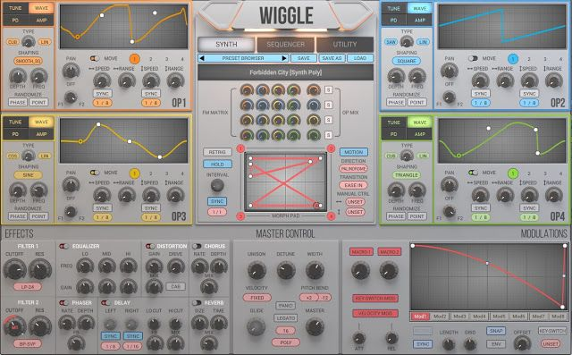 MATRIXSYNTH: WIGGLE 1.0.3 Update Demo - Wave Type Mix function
