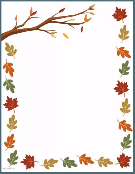 Free Thanksgiving Border Printables Many Designs Available Floral Border Design Colorful Borders Design Frame Border Design