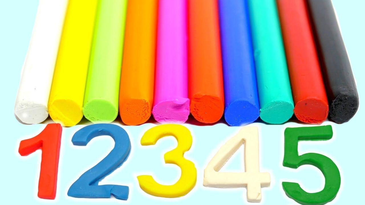 playdoh knete  englische farben und zahlen lernen für kinder