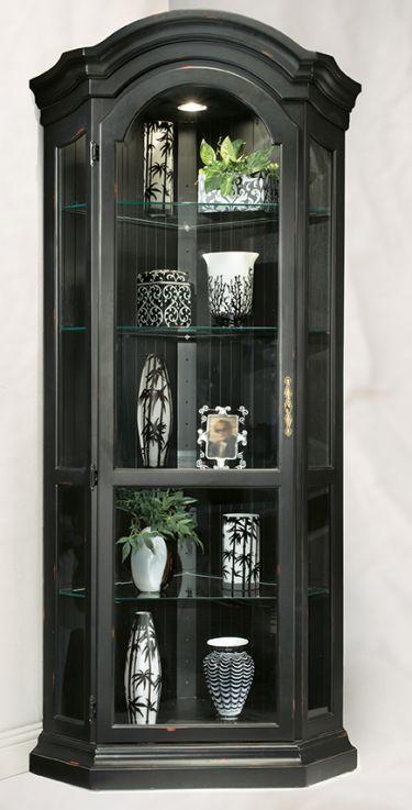 Panorama Corner Display Cabinet - Black