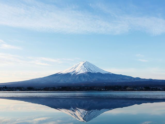 Which cloud formation looks like Mt Fuji?