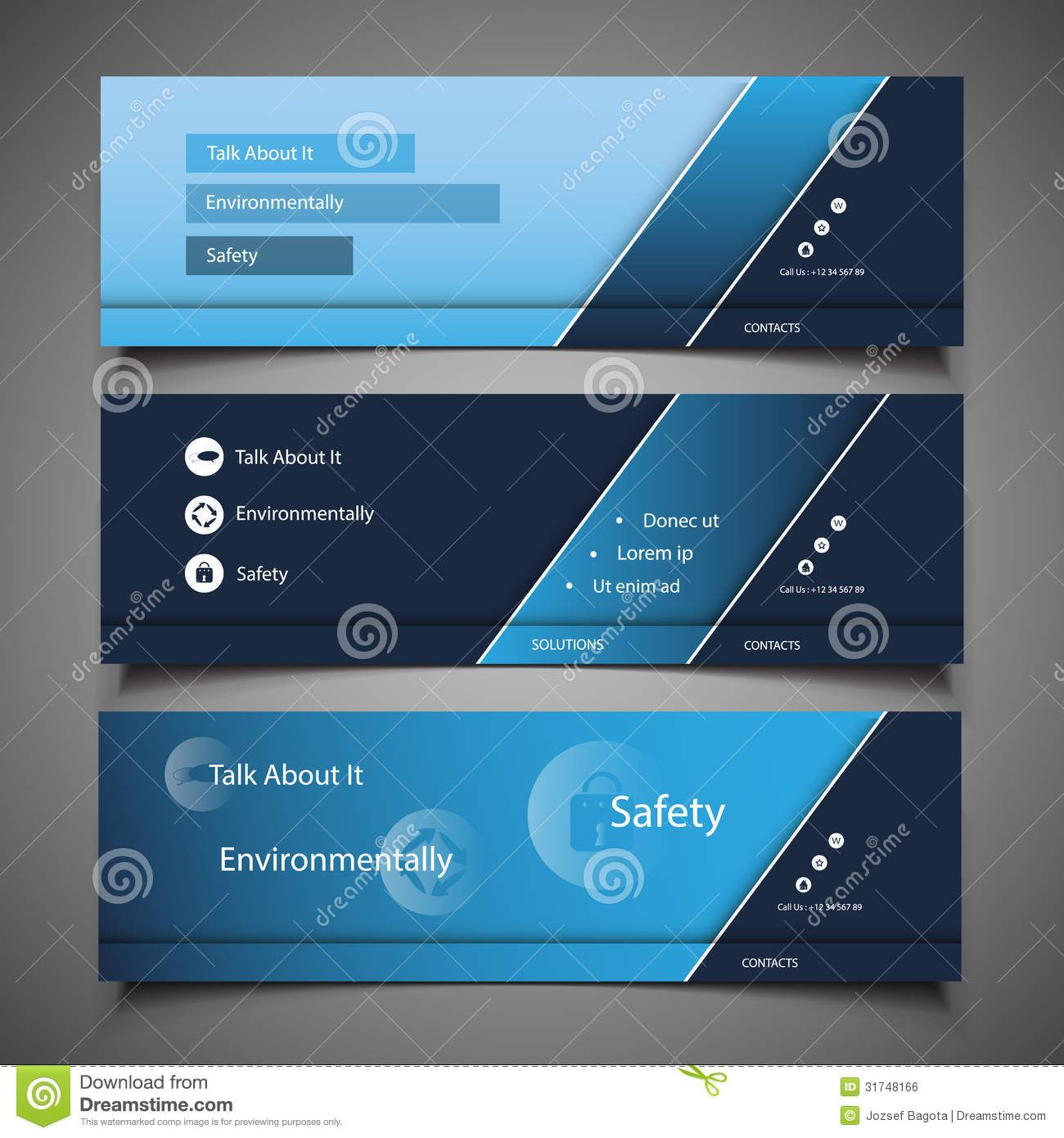 Web Design Elements Header Designs Stock Vector Pertaining To Website Banner Templates Free Download Website Banner Header Design Banner Template