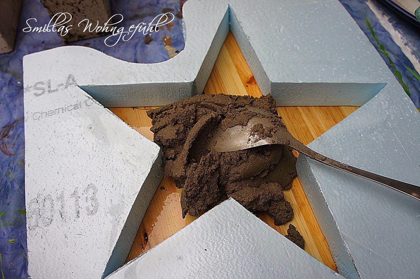 diy a star is born beton sterne ostern deko diy beton. Black Bedroom Furniture Sets. Home Design Ideas