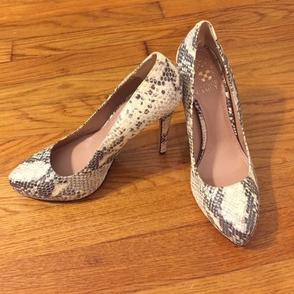 "Vince Camuto Platform Python Pumps Never worn hidden platform Python pumps. 4"" heel. Python has metallic sheen to it, very beautiful! Size 6.5. In perfect condition. Vince Camuto Shoes Heels"