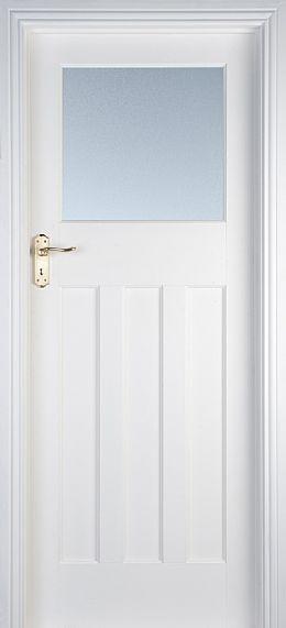 Edwardian 1 Lite White Primed Door 40mm Pinterest Interior