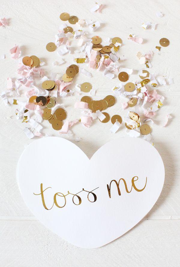 DIY Wedding Confetti Hearts Printableweddings Diy
