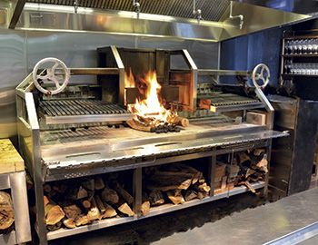Restaurant Kitchen Grill fire - roasted fare heats up on upscale menus | articles we like