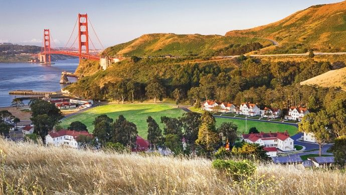 Cavallo Point: The property sprawls across the lush grounds of a former US Army post.