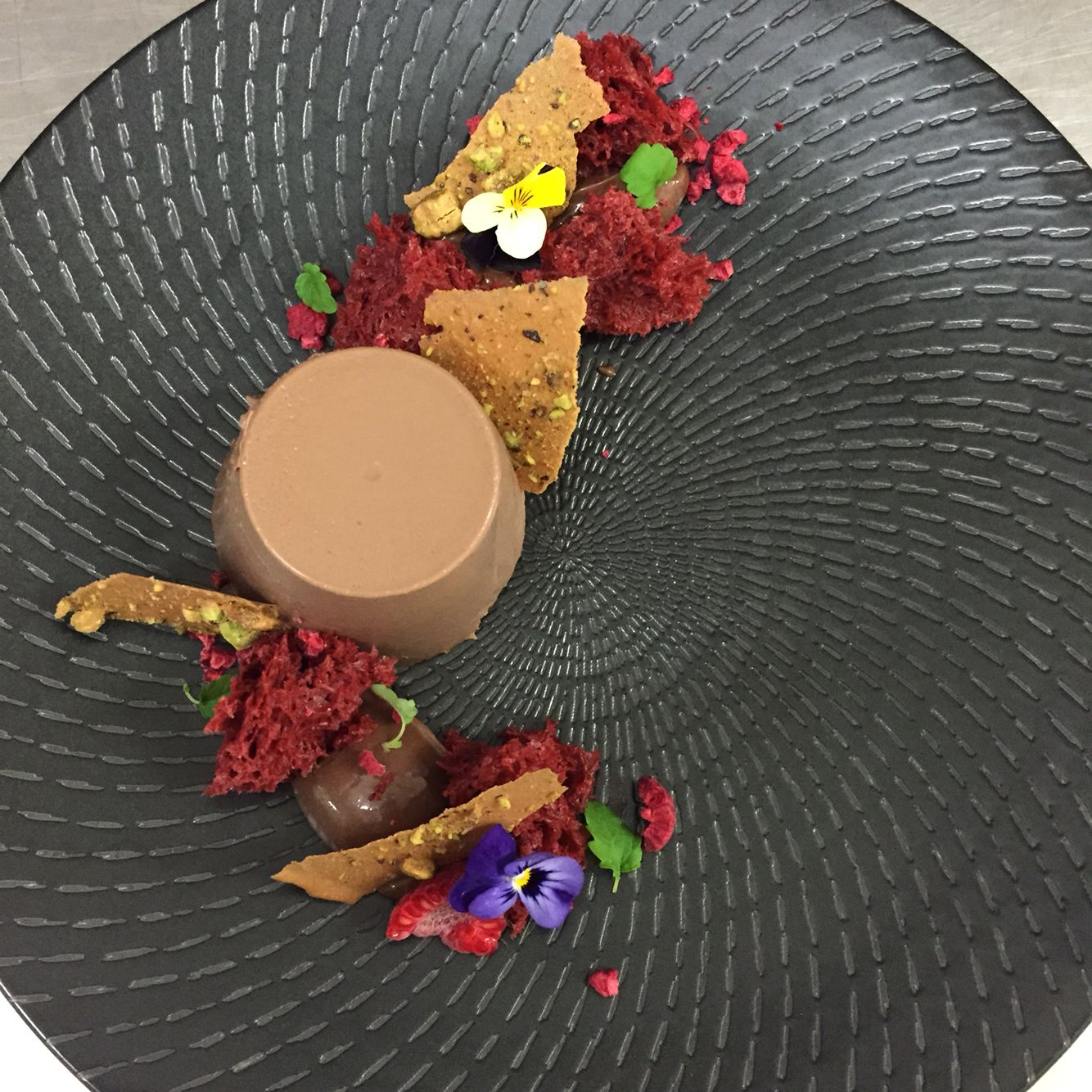 Desserts plate up #panacotta #chocolate