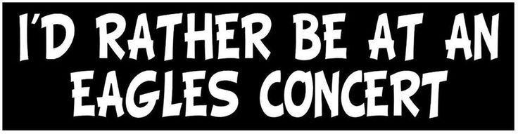 Eagles bumper sticker yes please