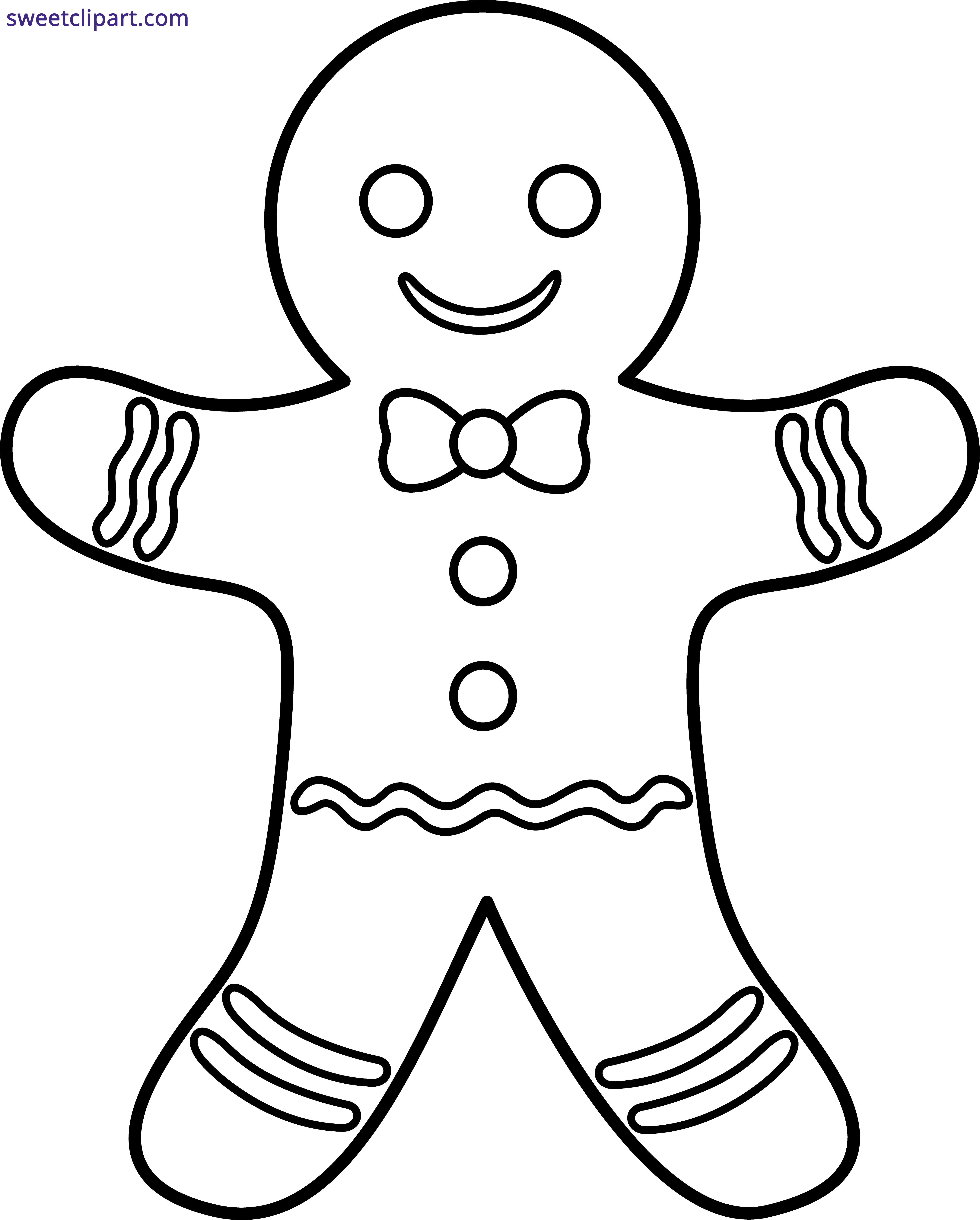 Gingerbread Man Outline Clipart Sweet Gingerbread Man Coloring Page Christmas Coloring Pages Coloring Pages Inspirational