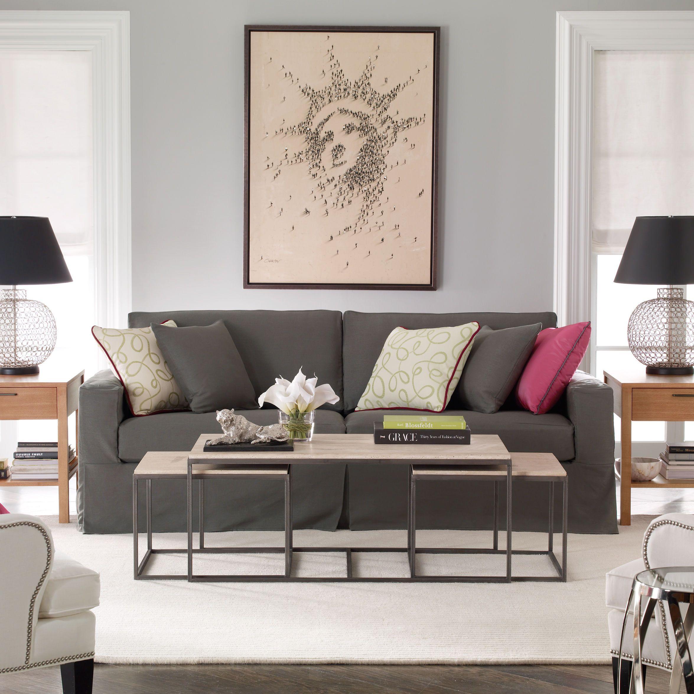 Neutral Interiors. Ethan Allen Living Room