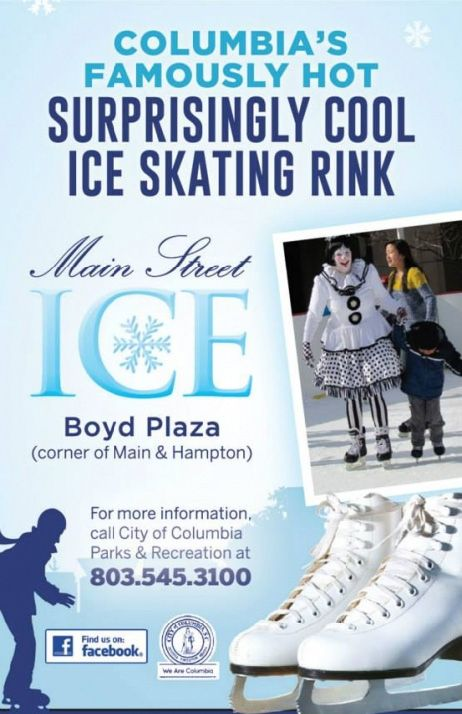 Main Street ICE   Outdoor Ice Skating Rink on SC's Main