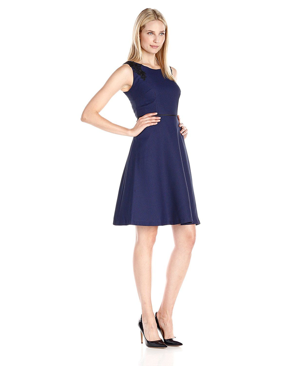 Kasper Women's Fit-and-Flare Shoulder-Detail Dress -- Unbelievable  item right here! : Women's dresses