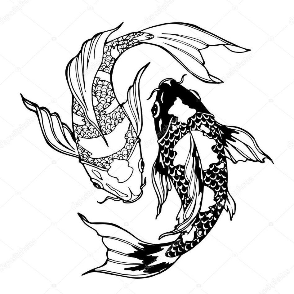 Coloring Pages Terrific Koi Fish Coloring Pages: Koi Fish Stock ...