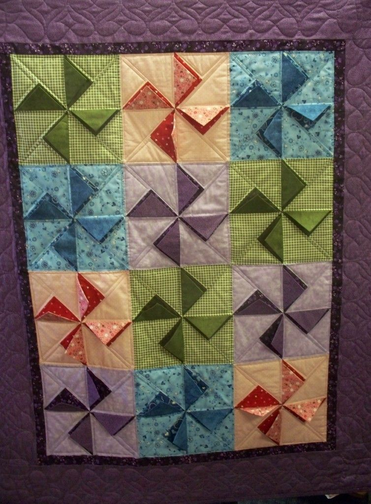 3D pinwheel ~ would be great for a baby quilt  From the book