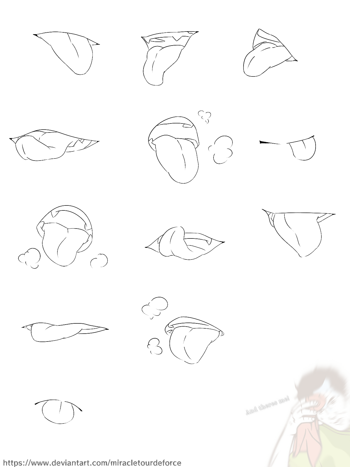 Mouth and Tongue Reference Art reference poses, Drawing