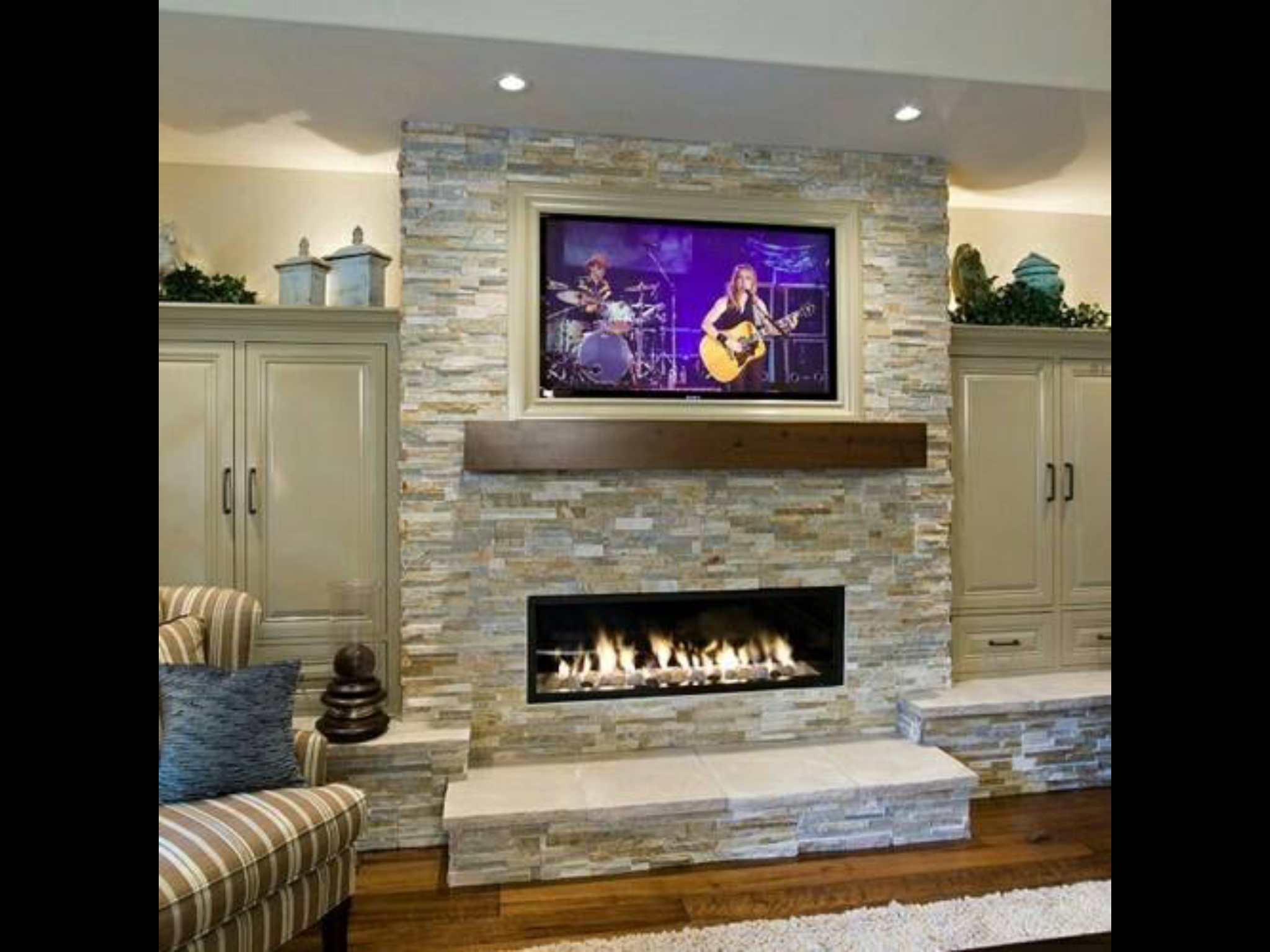 Could We Do Doors On Side Of Fireplace Leave Top W Pot Lights