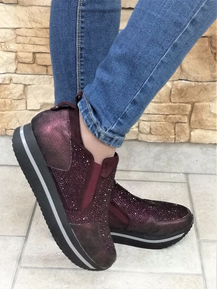 SNEAKERS WCUBED 17740 DONNA BURGUNDY CALZATURE COLLEZIONE SHOES f3c741b2d51