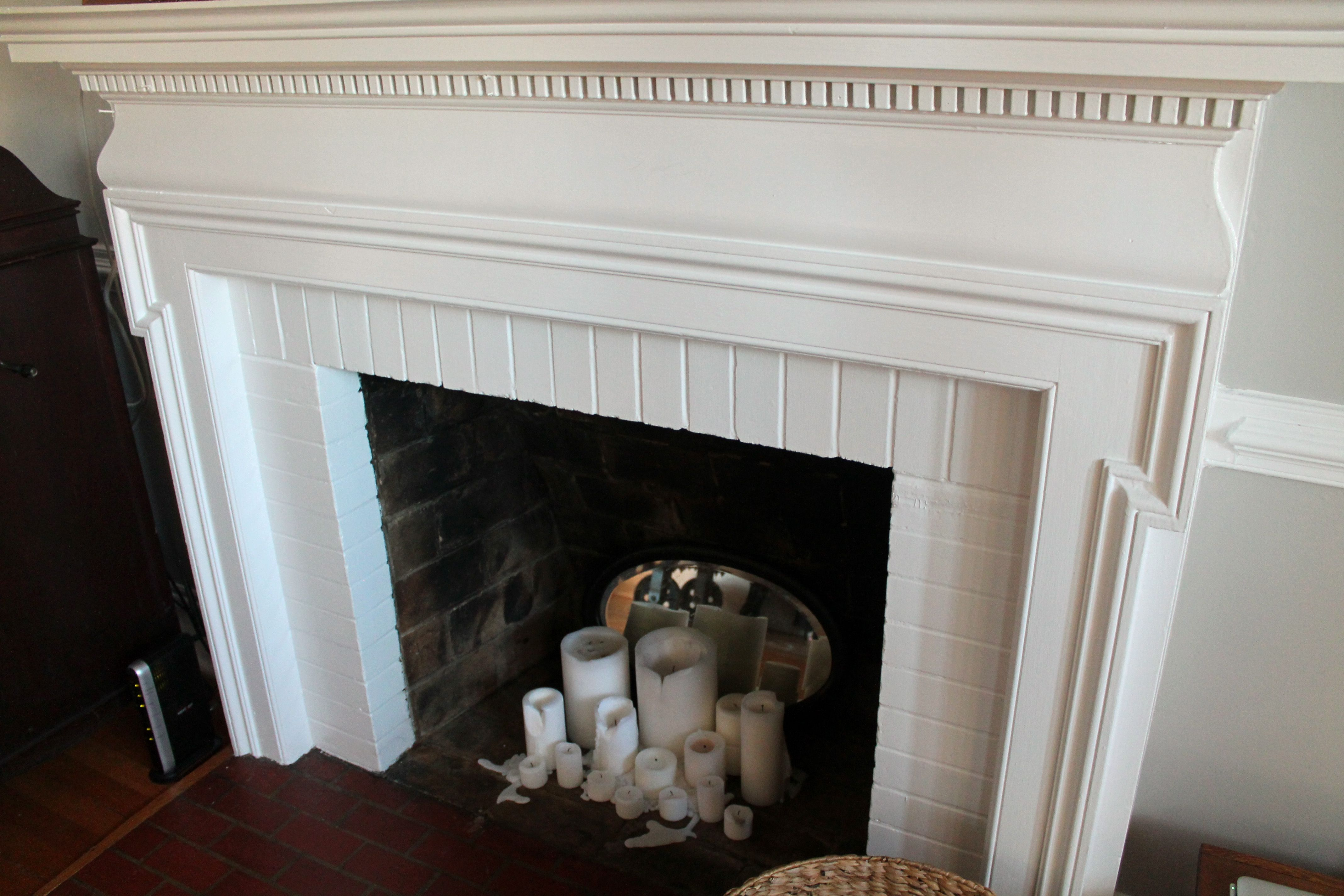 Diy Fireplacebefore Fireplace Coverfireplace Ideasdiy