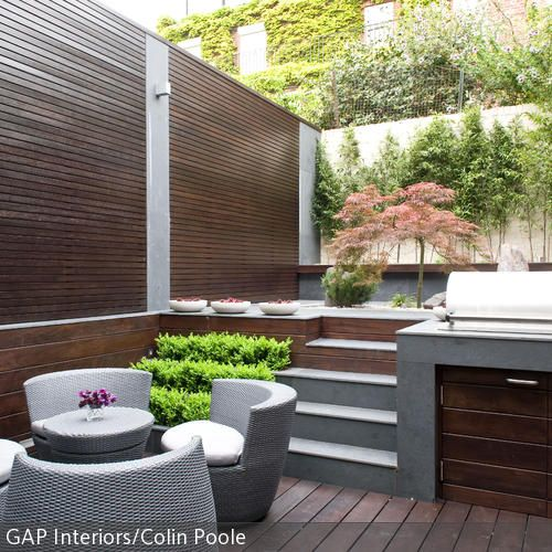 Outdoor-Küche Small backyard landscaping, Backyard landscaping - outdoor küche holz