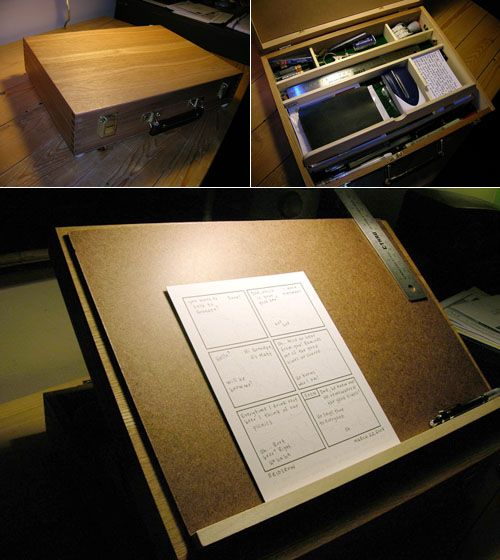 Of Matt Reidsmaus Excellent Portable Drawing Studio I Needed A Way To Make My Desk So That Could Easily With Drafting Table