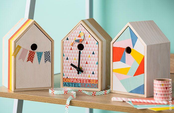 Pastel pop maison horloge loisirs créatifs pastel pop cultura
