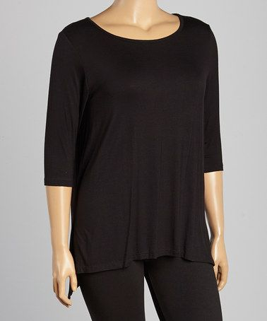 This Black Dolman Tunic - Plus is perfect! #zulilyfinds