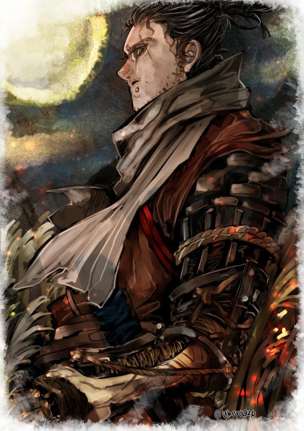 No Larger Size Available Dark Souls Shadow Samurai Art