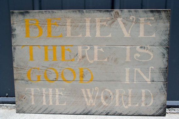 Be The Good Sign Rustic Sign Gray And Yellow Room Decor