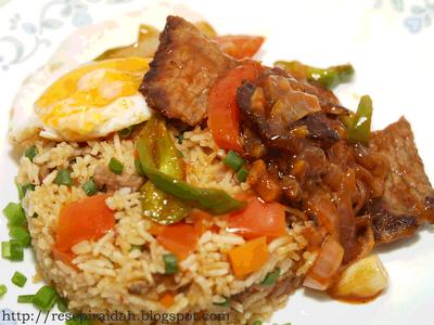 Resepi Raidah Nasi Goreng Usa Nasi Goreng Fried Rice Rice Dishes