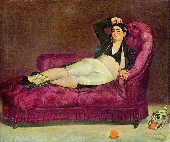 Edouard Manet.  Эдуар Мане, «Девушка в испанском костюме», 1862—1863