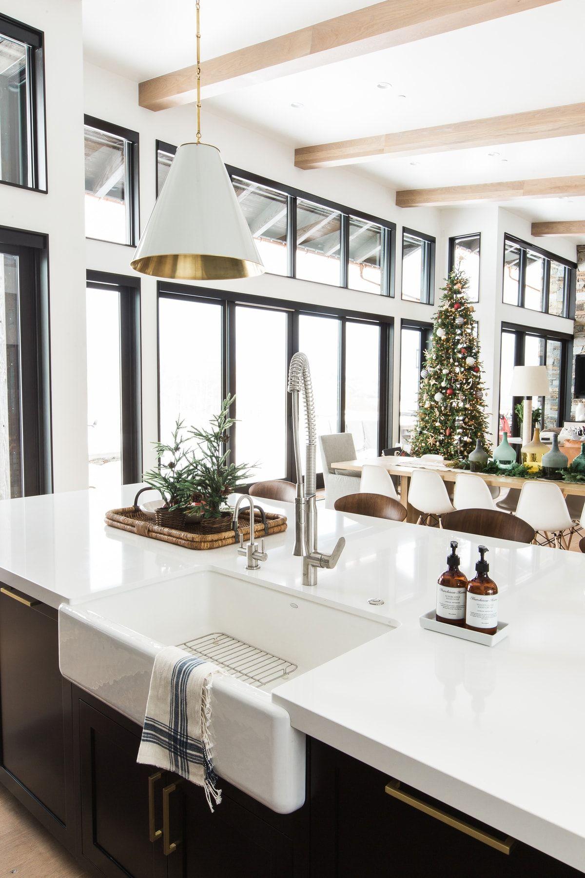 A Very Mountain Home Christmas Modern farmhouse kitchens
