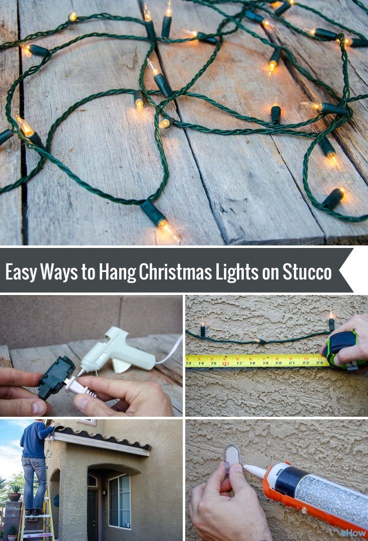 How To Hang Christmas Lights On Stucco For The Home Pinterest Outdoor Wiring Ehow Trees Exterior