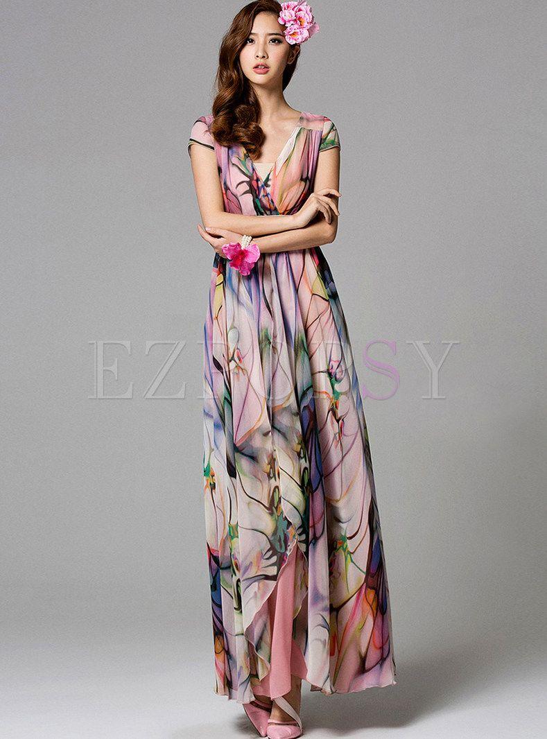 2b42483fc3ec Summer Sleeveless Bohemian Maxi Dress