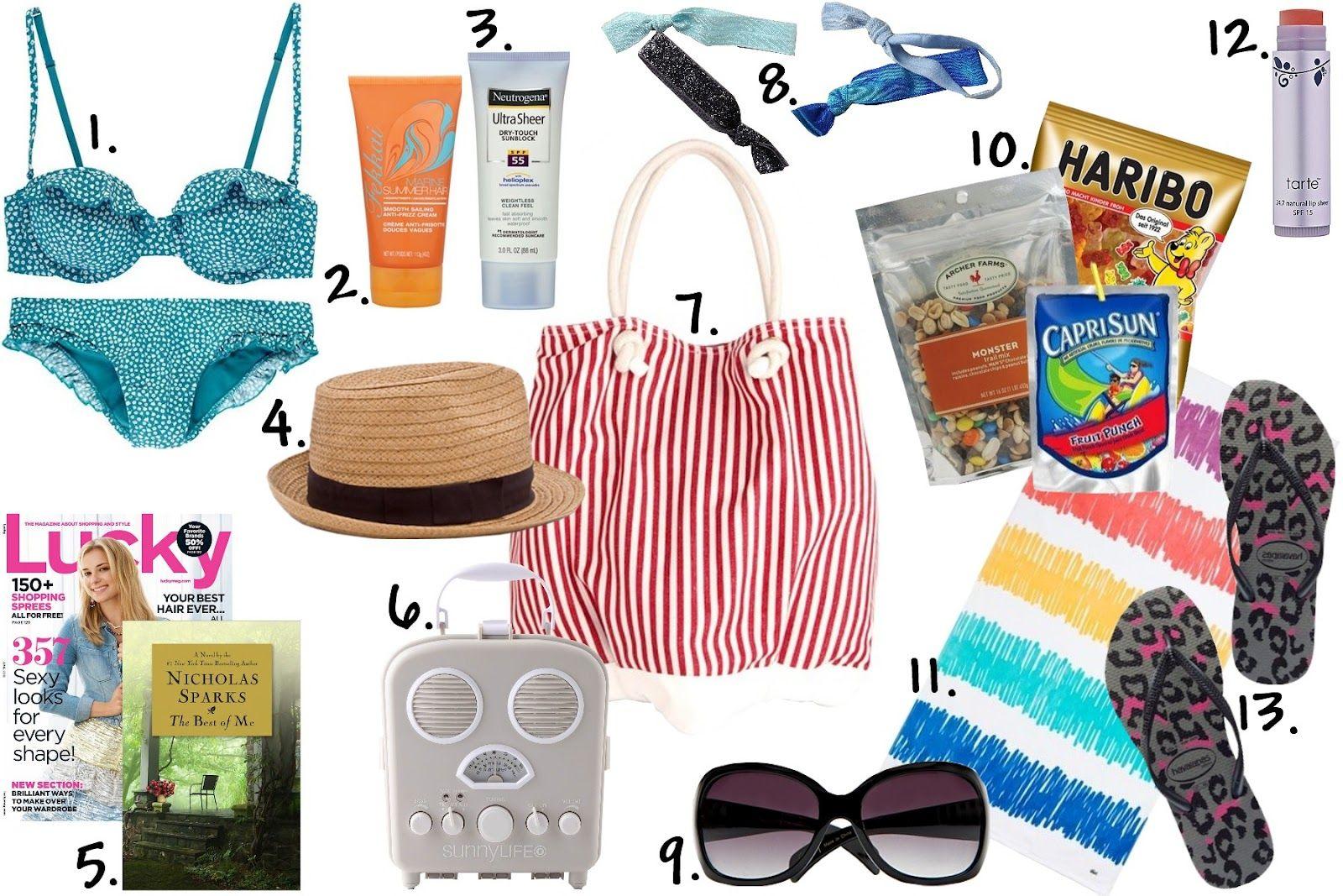 Summer Beach Bag Essentials College Gloss