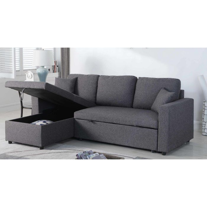 mullaney reversible storage pull out bed sleeper sectional apt rh pinterest com