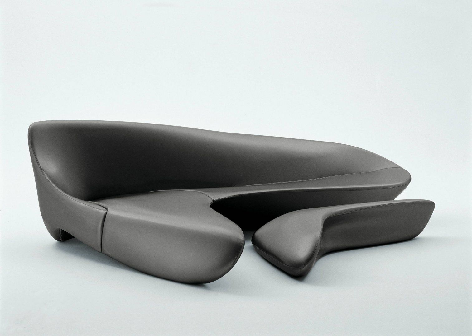Moon System Sofa and coffee table by Zaha Hadid Architects