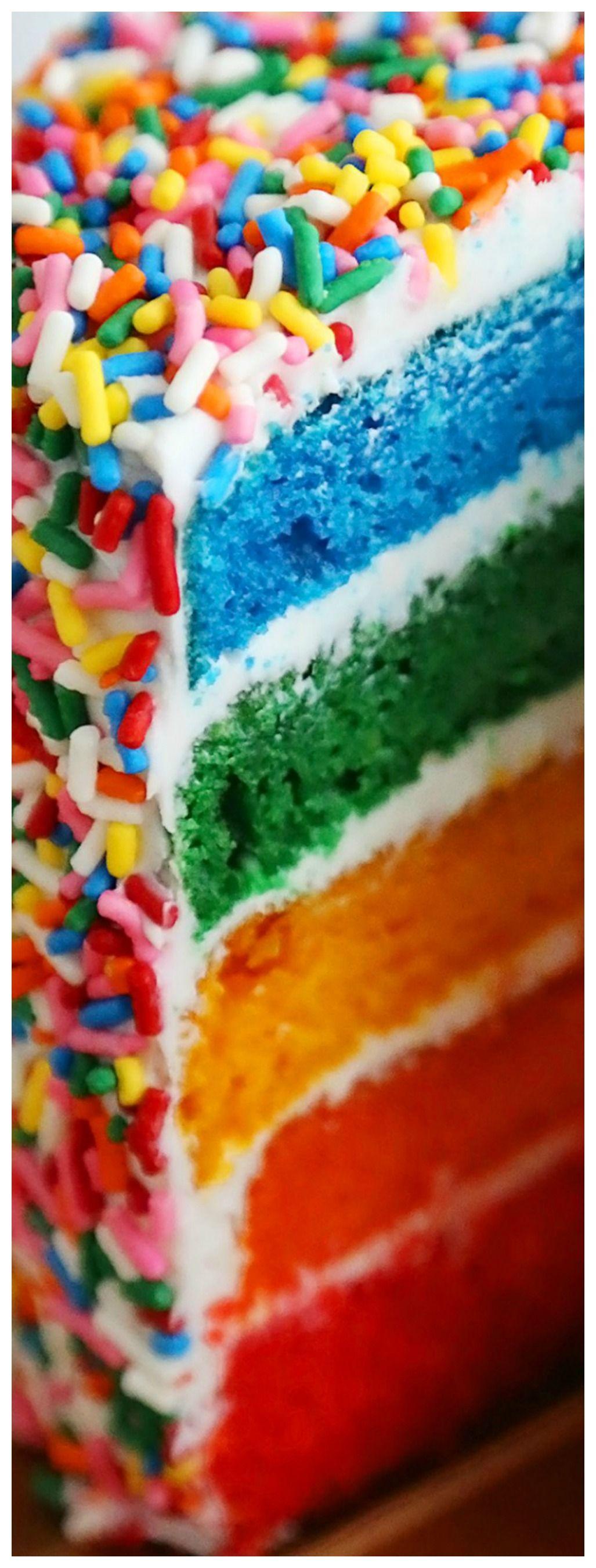 Easy rainbow cake recipe rainbow cake cake cake servings