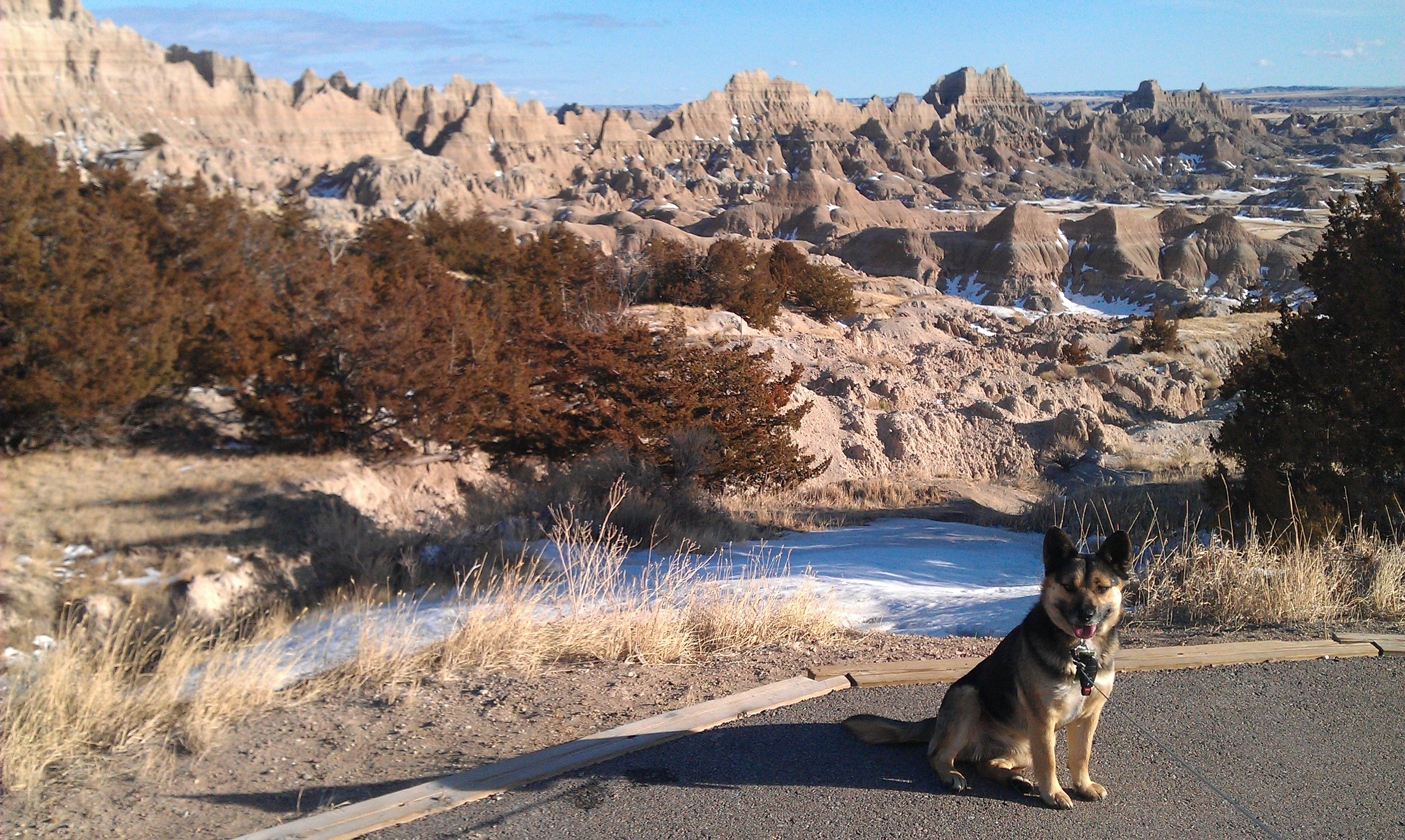 Badlands National Park, South Dakota January 2013