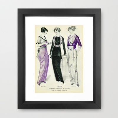 Charming Gowns Framed Art Print by Kathead Tarot - $36.00